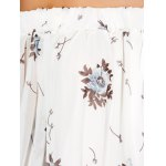 best See Through Chiffon Floral Off The Shoulder Blouse
