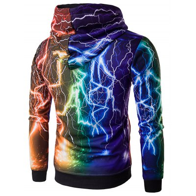 Hooded 3D Colorful Lightning Print HoodieMens Hoodies &amp; Sweatshirts<br>Hooded 3D Colorful Lightning Print Hoodie<br><br>Material: Cotton, Polyester<br>Package Contents: 1 x Hoodie<br>Shirt Length: Regular<br>Sleeve Length: Full<br>Style: Fashion<br>Weight: 0.473kg
