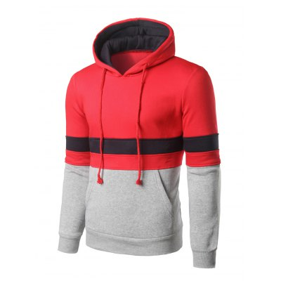 Color Block Kangaroo Pocket Pullover HoodieMens Hoodies &amp; Sweatshirts<br>Color Block Kangaroo Pocket Pullover Hoodie<br><br>Material: Cotton Blends<br>Clothing Length: Regular<br>Sleeve Length: Full<br>Style: Casual<br>Weight: 0.550kg<br>Package Contents: 1 x Hoodie