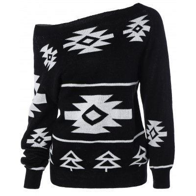 Geometric Pullover Convertible Sweater