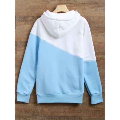 Long Sleeves Color Block HoodieSweatshirts &amp; Hoodies<br>Long Sleeves Color Block Hoodie<br><br>Material: Spandex<br>Clothing Length: Long<br>Sleeve Length: Full<br>Style: Streetwear<br>Pattern Style: Patchwork<br>Season: Fall,Spring,Winter<br>Weight: 0.470kg<br>Package Contents: 1 x Hoodie