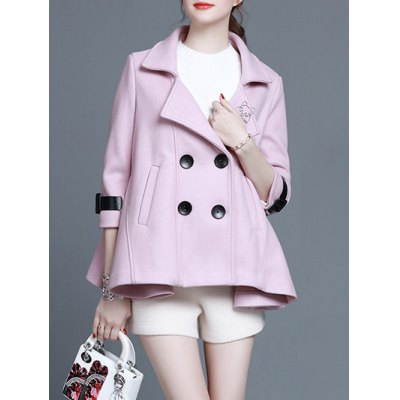 Short Trapeze Double Breasted Coat
