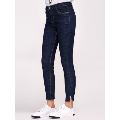 Stretchy Side Slit with Pockets Jeans