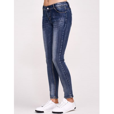 Comfy Ombre Tie-Dyed Close-Fitting Jeans