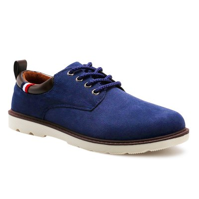 Suede Eyelet Casual Shoes