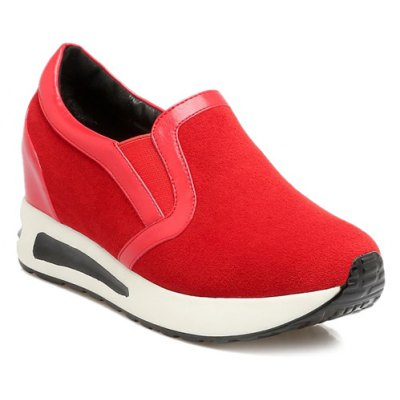 Suede Elastic Band Athletic Shoes