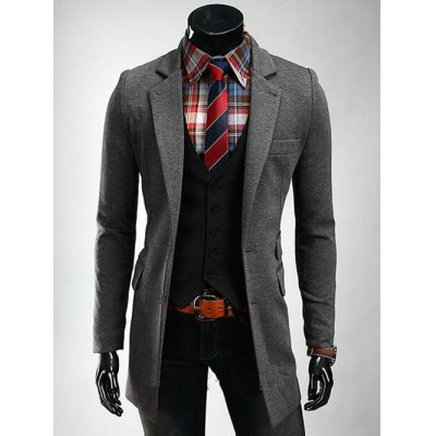 Lapel Lengthen Slimming Single Breasted Blazer