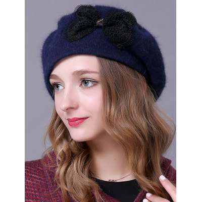 Knitted Bowknot Slouchy Hat
