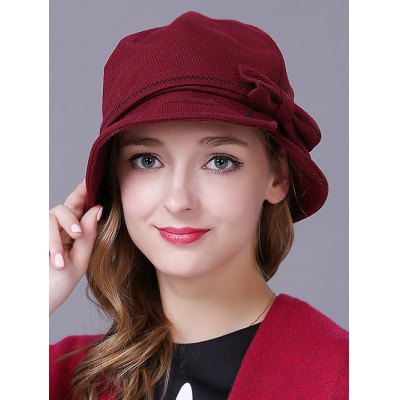 Casual Bowknot Knit Cloche Hat