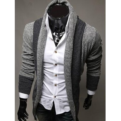 Color Block Panel Longline Knitting CardiganMens Sweaters &amp; Cardigans<br>Color Block Panel Longline Knitting Cardigan<br><br>Collar: Turn-down Collar<br>Material: Cotton, Polyester<br>Package Contents: 1 x Cardigan<br>Sleeve Length: Full<br>Style: Fashion<br>Type: Cardigans<br>Weight: 0.550kg