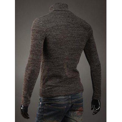 Button Embellished Turtleneck Sweater от GearBest.com INT