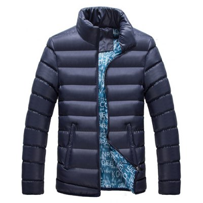 Stand Collar Thicken Zip-Up Cotton-Padded Jacket