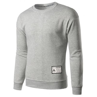 Crew Neck Applique Sweatshirt