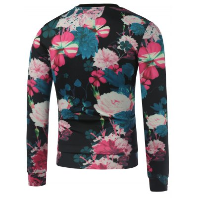 Crew Neck Paris Printed Floral SweatshirtMens Hoodies &amp; Sweatshirts<br>Crew Neck Paris Printed Floral Sweatshirt<br><br>Material: Cotton,Polyester<br>Clothing Length: Regular<br>Sleeve Length: Full<br>Style: Casual<br>Weight: 0.351kg<br>Package Contents: 1 x Sweatshirt