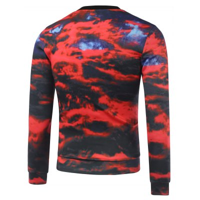 Crew Neck Graphic Print Cloud SweatshirtMens Hoodies &amp; Sweatshirts<br>Crew Neck Graphic Print Cloud Sweatshirt<br><br>Material: Cotton,Polyester<br>Clothing Length: Regular<br>Sleeve Length: Full<br>Style: Casual<br>Weight: 0.520kg<br>Package Contents: 1 x Sweatshirt