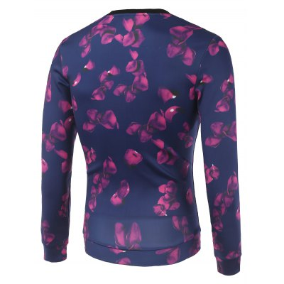Petal and Star Printed Crew Neck SweatshirtMens Hoodies &amp; Sweatshirts<br>Petal and Star Printed Crew Neck Sweatshirt<br><br>Material: Cotton,Polyester<br>Clothing Length: Regular<br>Sleeve Length: Full<br>Style: Casual<br>Weight: 0.342kg<br>Package Contents: 1 x Sweatshirt