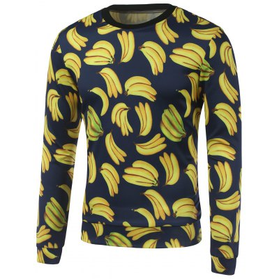 All Over Banana Printed Crew Neck Толстовка