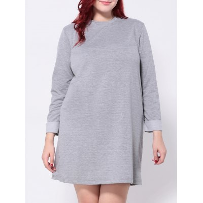 Hemming Sleeves T-Shirt Dress