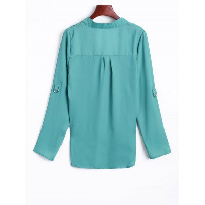 Loose Fit High Low Chiffon Blouse