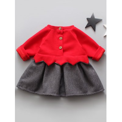Button Up Letter Embroidered Wool DressGirls Clothing<br>Button Up Letter Embroidered Wool Dress<br><br>Style: Casual<br>Material: Cotton Blend<br>Silhouette: A-Line<br>Dresses Length: Mini<br>Neckline: Round Collar<br>Sleeve Length: Long Sleeves<br>Embellishment: Embroidery<br>Pattern Type: Letter<br>With Belt: No<br>Season: Fall,Spring<br>Weight: 0.354kg<br>Package Contents: 1 x Dress