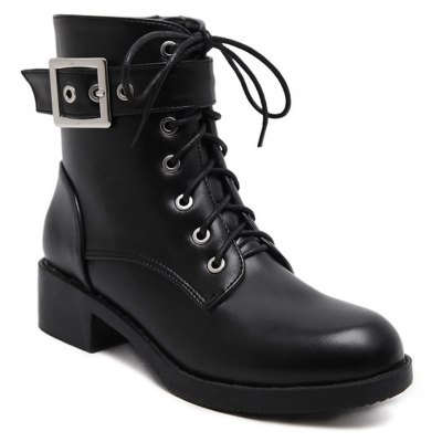 Buckle Strap Combat Boots