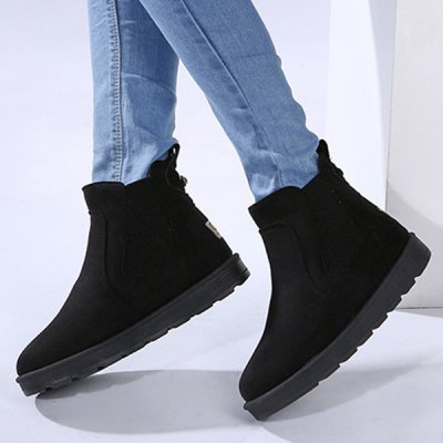 Ankle Suede Snow Boots