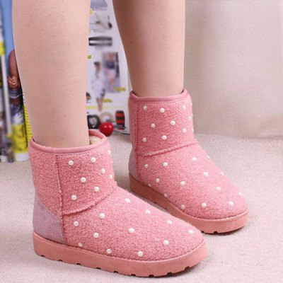Beaded Snow Boots