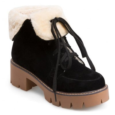 Fuzzy Fold Down Boots