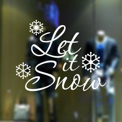 Christmas Let It Snow Wall Stickers