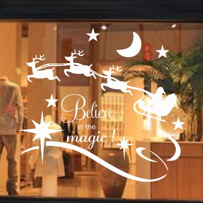 Christmas Believe Magic Removable Glass Window Wall Stickers