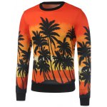 Crew Neck Coconut Palm Printed Sweatshirt