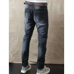 Slim Fit Zipper Fly Distressed Jeans deal
