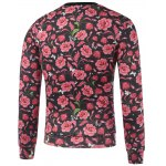 cheap Crew Neck Printed Floral Sweatshirt
