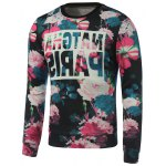 Crew Neck Paris Printed Floral Sweatshirt
