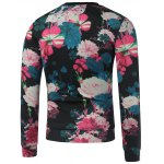 cheap Crew Neck Paris Printed Floral Sweatshirt