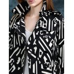 Geometric Double Breasted Trench Coat for sale
