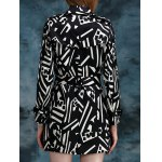 Geometric Double Breasted Trench Coat deal