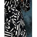 best Geometric Double Breasted Trench Coat