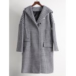 Hooded Houndstooth Cocoon Coat for sale
