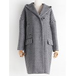 Hooded Houndstooth Cocoon Coat deal