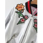 Bomber Floral Embroidery Jacket deal