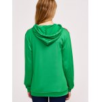 Christmas Print Color Spliced Hoodie for sale
