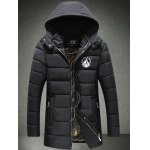 Embroidery Logo Padded Coat with Detachable Hood
