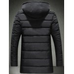 cheap Embroidery Logo Padded Coat with Detachable Hood