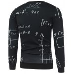 cheap Mathematics Printed Crew Neck Sweatshirt