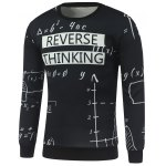 Mathematics Printed Crew Neck Sweatshirt