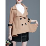 cheap Short Trapeze Double Breasted Coat