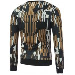 cheap Abstract Printed Crew Neck Sweatshirt