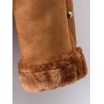 Faux Shearling Coat With Pockets for sale