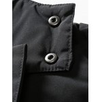 PU Patch Padded Coat with Detachable Hood deal